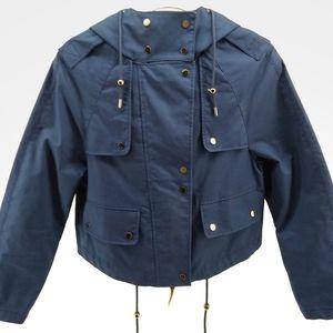 Zara Cropped Hooded Coat